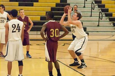Basketball Verrado JV Boys vs Shadow Ridge 1/4/2011