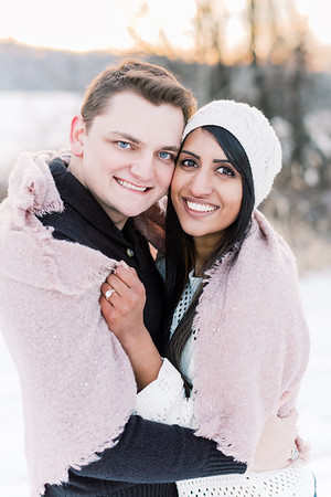 Poornika and Tanner in the Snow