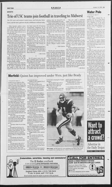 Daily Trojan, Vol. 156, No. 38, October 14, 2005