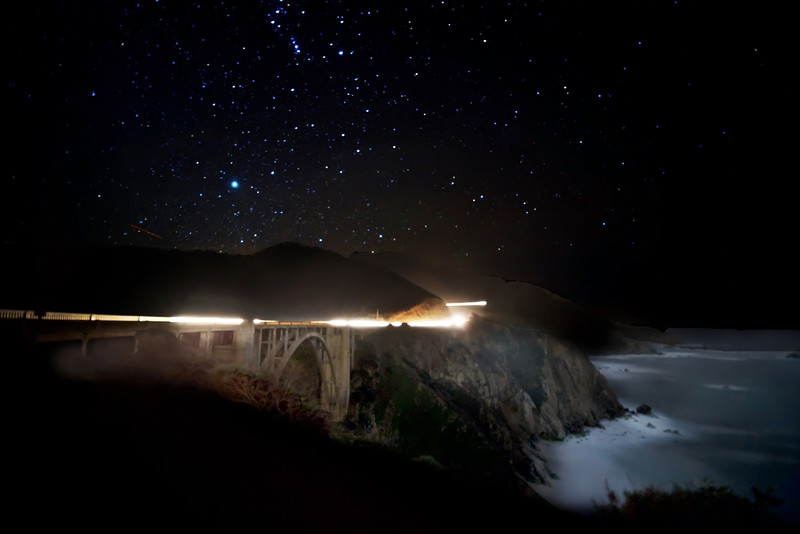 Bixby Bridge on a star filled night