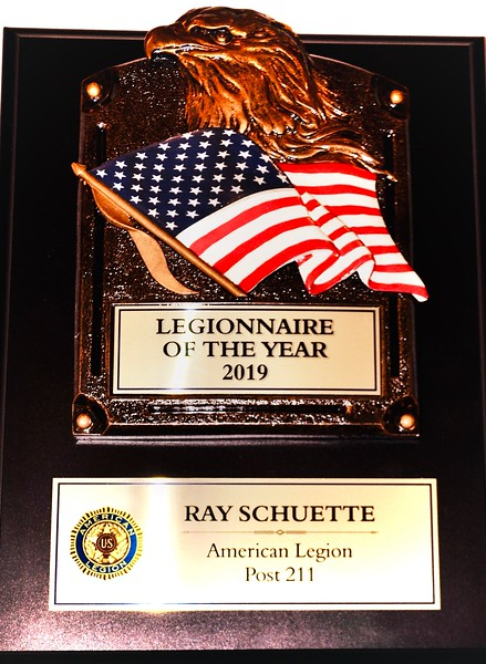 Ray Schuette--Legionnaire of the Year 2019
