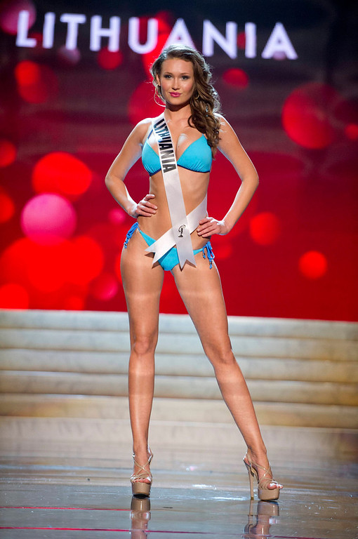 . Miss Lithuania 2012 Greta Mikalauskyte competes during the Swimsuit Competition of the 2012 Miss Universe Presentation Show at PH Live in Las Vegas, Nevada December 13, 2012. The Miss Universe 2012 pageant will be held on December 19 at the Planet Hollywood Resort and Casino in Las Vegas. REUTERS/Darren Decker/Miss Universe Organization L.P/Handout