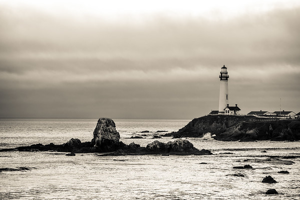 Pigeon Point Lighthouse at Sunset