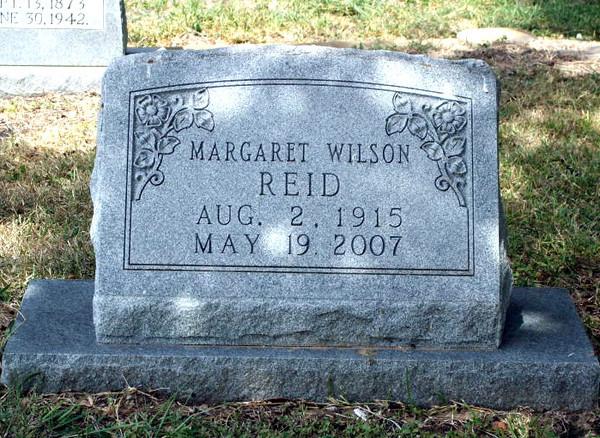 REID, MARGARET SWANN (WILSON) Odd Fellows Cemetery, Gonzales, Texas