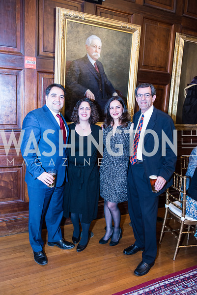 Reza Amani, Termeh Rassi, Mandana Dehghanian, Bahram Shariari, Iranian-American Nowruz Reception, Washington, DC, Carnegie Institute of Science, March 15, 2018.  Photo by Ben Droz.