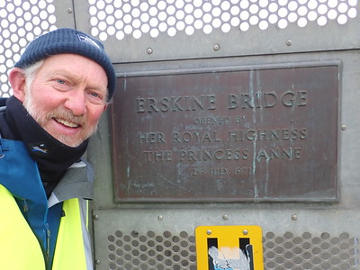 Brian Burine walks the Erskine bridge