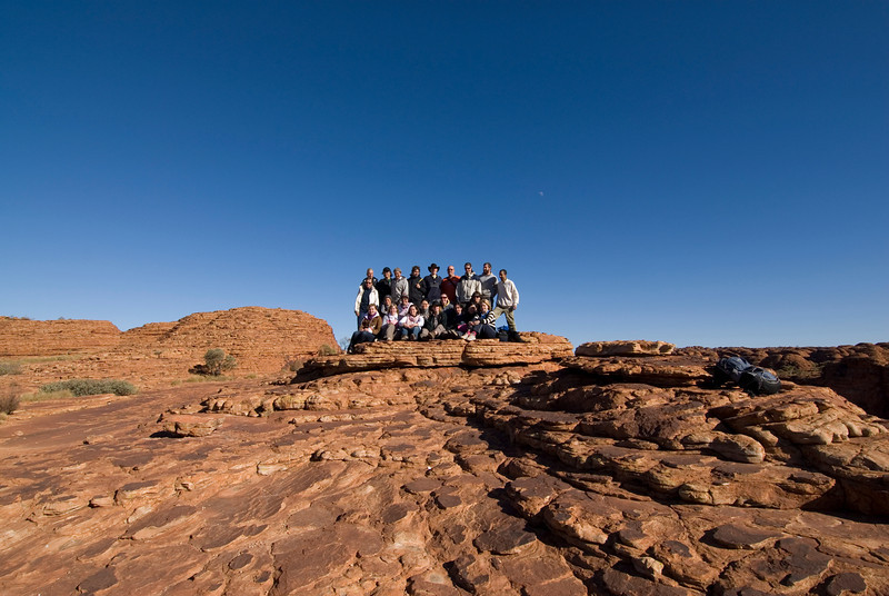 Group Photo Wide Angle Kings Canyon - Northern Territory, Australia