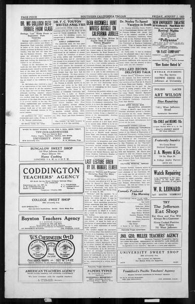 The Southern California Trojan, Vol. 4, No. 12, August 07, 1925