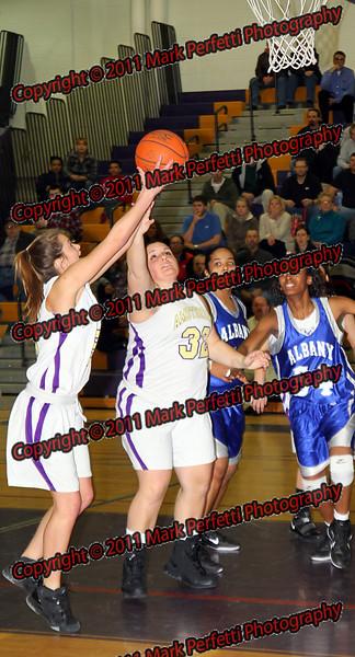 AHS Girls Varsity Basketball vs Albany 1-4-11