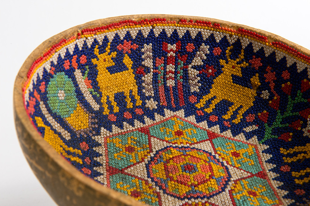 . A vintage Mexican beaded bowl for sale on Hunters Alley new website. Hunters Alley launches its new resale website January 22 with a selection of pre-owned furnishings and art starting at $25. (Photo by Michael Owen Baker/L.A. Daily News)