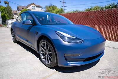 Tesla Model 3 - 3M 2080 Matte Indigo Vinyl Wrap | M27
