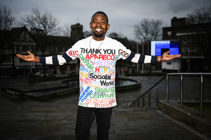 Friday 11th January 2019 Pictured is asylum seeker, Otis Bolamu, who has been allowed to stay in Swansea.