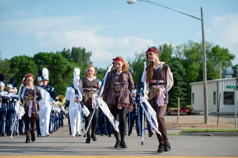 Bemidji Marching Band at Pioneerland Band Festival