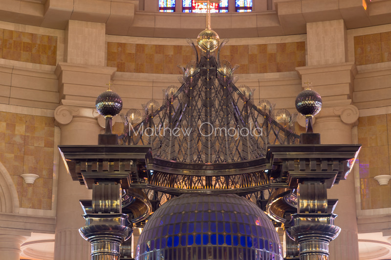Canopy over main altar of the Basilica of Our Lady of Peace Basilique Notre Dame de la Paix Yamoussoukro Ivory Coast Cote d'Ivoire West Africa. The largest church in the world.