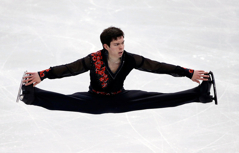 . Keegan Messing competes in the men\'s free skate at the U.S. Figure Skating Championships in Boston, Sunday, Jan. 12, 2014. (AP Photo/Elise Amendola)