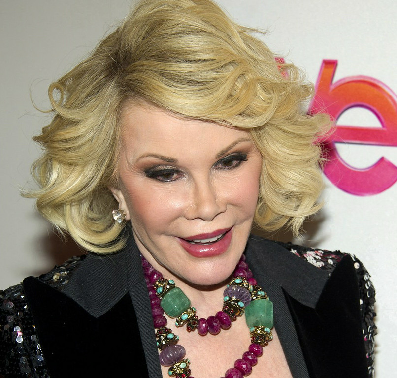 """. 10. (tie) JOAN RIVERS <p>�I�m 81 � I could go at any moment!� (previous ranking: unranked) </p><p><b><a href=\""""http://www.nydailynews.com/entertainment/gossip/joan-rivers-joked-death-day-surgery-scare-article-1.1920231\"""" target=\""""_blank\""""> LINK</a></b> </p><p>    (AP Photo/Charles Sykes)</p>"""