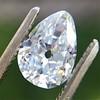 1.03ct Antqiue Pear Shape Diamond, GIA D VS1 2