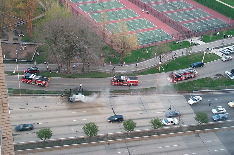 Three (!) fire trucks...