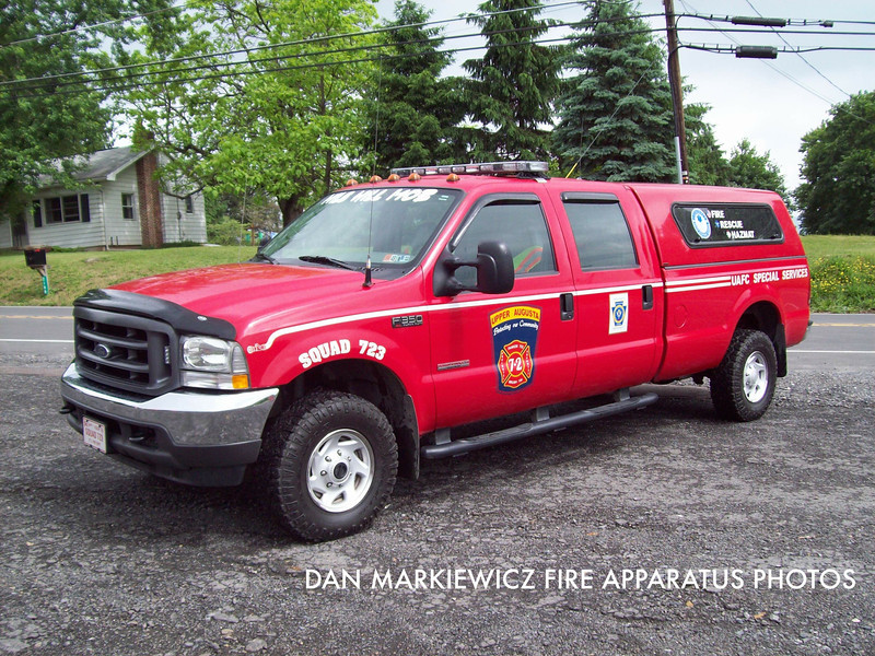 UPPER AUGUSTA FIRE CO. SQUAD 723 2004 FORD SQUAD