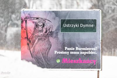 2019-01-05 - Ustrzyki Dolne - Protest przeciwko budowie fabryki węgla drzewnego firmy Gryfskand