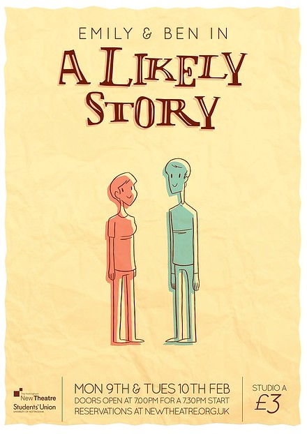 Emily and Ben in 'A Likely Story' poster