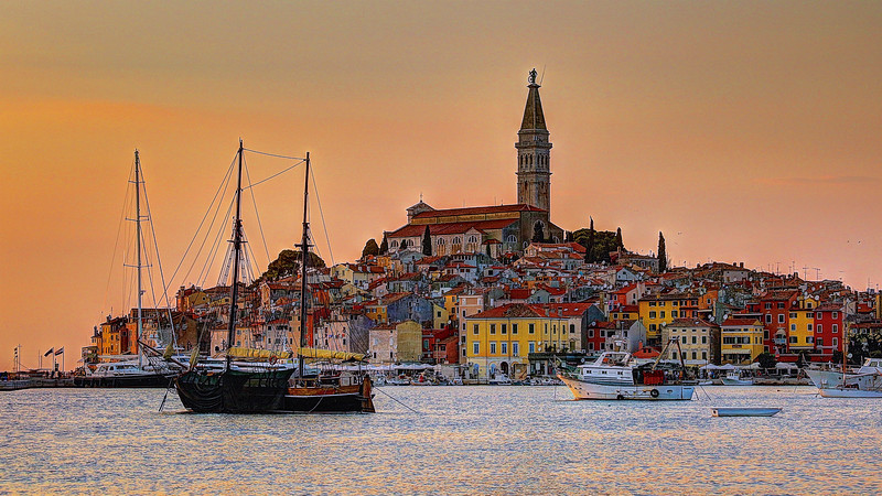Old Town at sunset - Rovinj