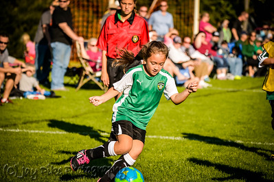 October 11, 2015 - PSC U9 Girls Green - Game