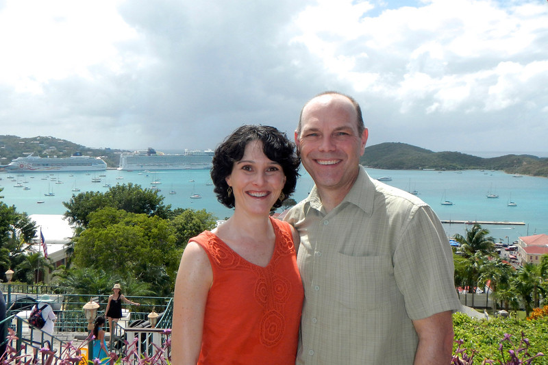 Overlooking the port in Charlotte Amalie, St. Thomas
