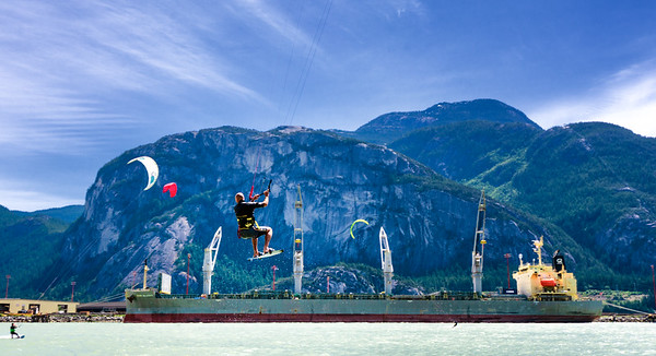 Squamish Kiteboarding (the Spit) June-July 2020