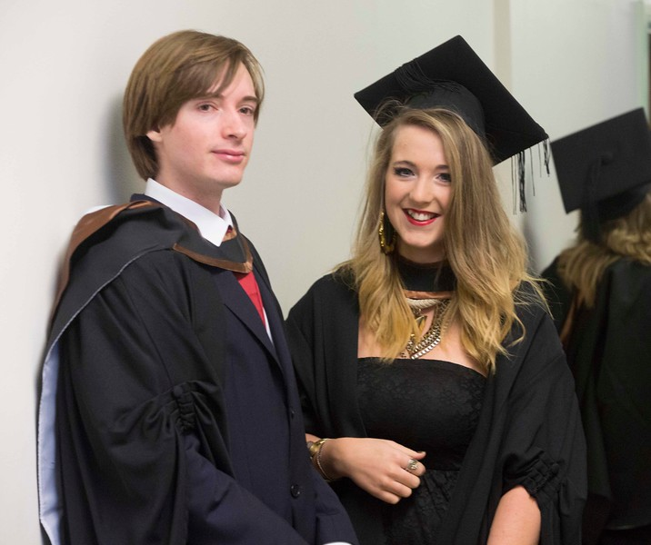 Waterford Institute Of Technology Conferring. Pictured at WIT Waterford Institute Of Technology Conferring is Art Carey, Kilkenny and Bróna Walsh, Waterford who graduated Bachelor of Arts (Honours) in Psychology. Picture: Patrick Browne