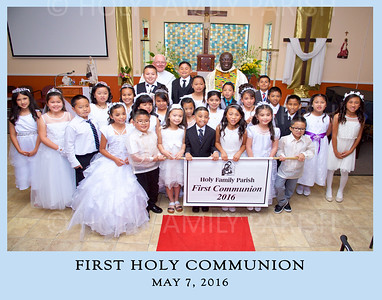 2016 Holy Family Parish-1st Holy Communion-Group