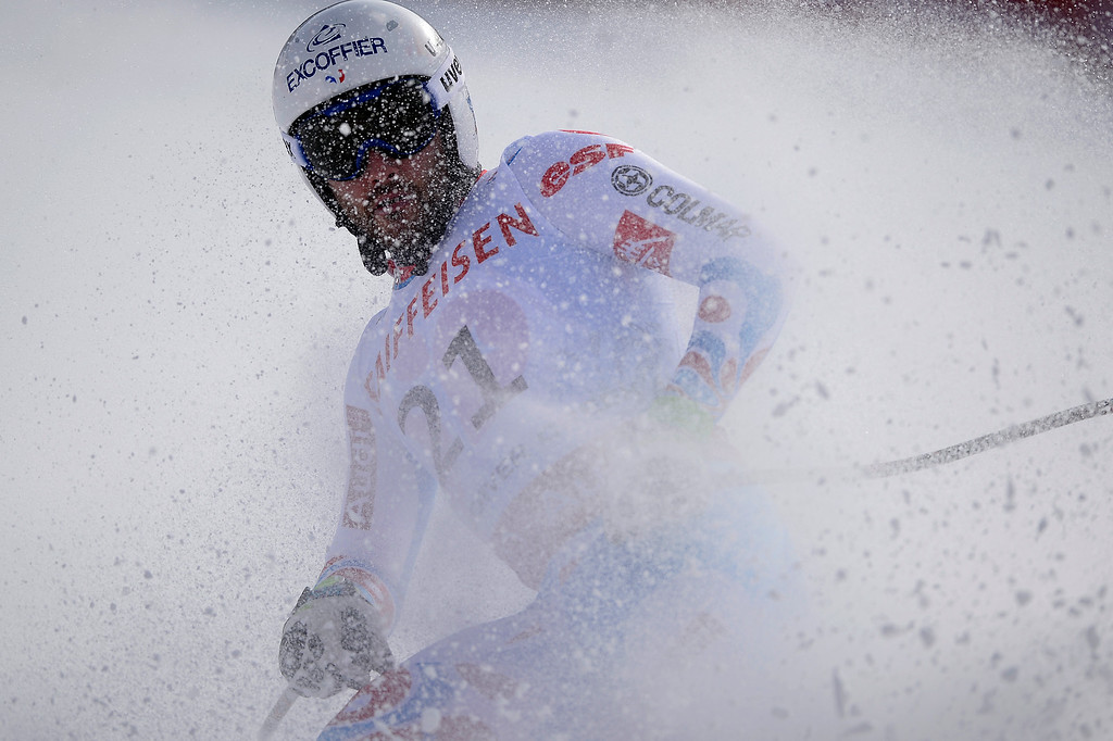 . BEAVER CREEK, CO - FEBRUARY 03: Brice Roger of France competes during the the men\'s downhill training. FIS Alpine World Ski Championships 2015 on Tuesday, February 3, 2015. (Photo by AAron Ontiveroz/The Denver Post)