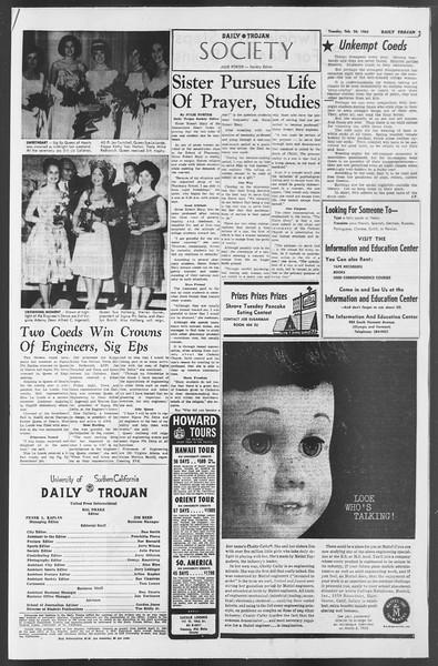 Daily Trojan, Vol. 54, No. 70, February 26, 1963