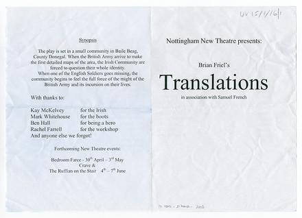 Translations poster