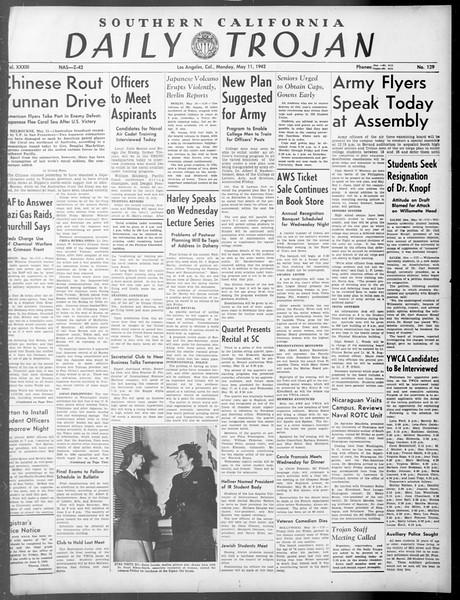 Daily Trojan, Vol. 33, No. 139, May 11, 1942