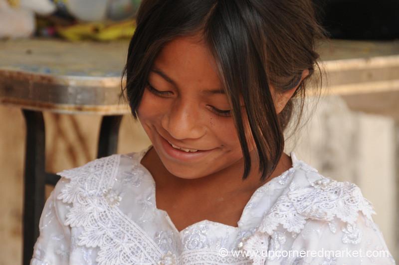 Guatemalan Girl, Shy Smile - Guatemala City, Guatemala