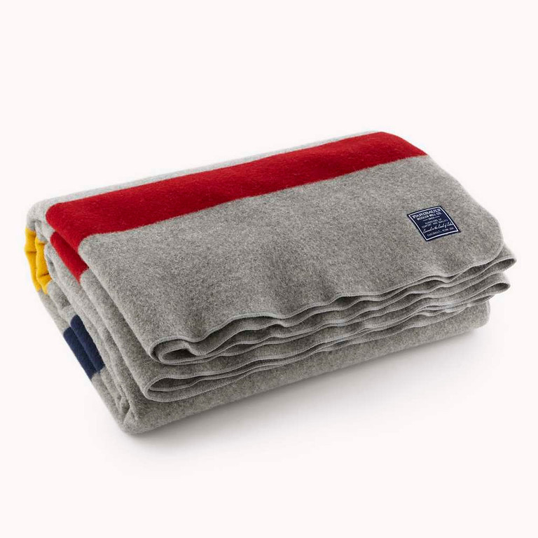 . Revival stripe double-woven wool blanket in gray (starting at $310) from Faribault Woolen Mill (1500 Second Ave. N.W., Faribault; 507-412-5534; faribaultmill.com). Select products available at area shops including Ampersand (3445 Galleria, Edina; 952-920-2118; ampersandshops.com).