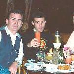 Vittorio's mom Diva, Paolo, Vittorio Lucidi, Uncie - Bob Skinner - me - Vicki Skinner at the Tonga Room, Fairmont Hotel, San Francisco, California