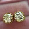 2.23ctw Old European Cut Diamond Stud Earrings 24