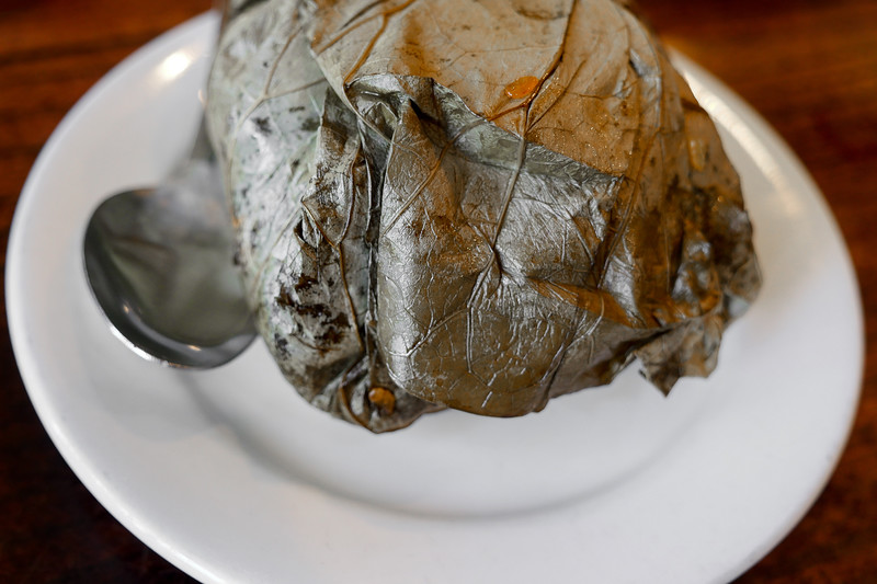 Sticky Rice wrapped in Lotus Leaf