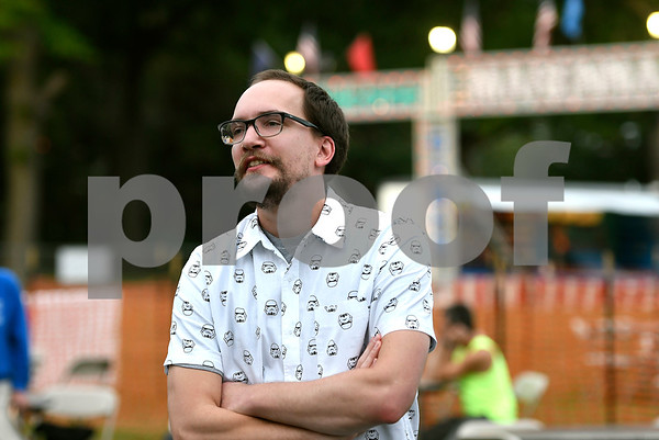9/21/2017 Mike Orazzi | Staff James Drzewiecki during the 56th Annual Chrysanthemum Festival on opening night in Bristol Thursday.
