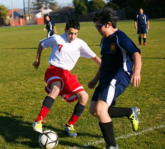 RCS JH Boys' Soccer vs Milpitas Christian - Feb 2013