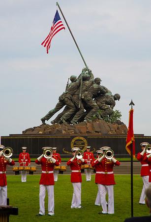 Marine Sunset Review Parade - Iwo Jima Memorial