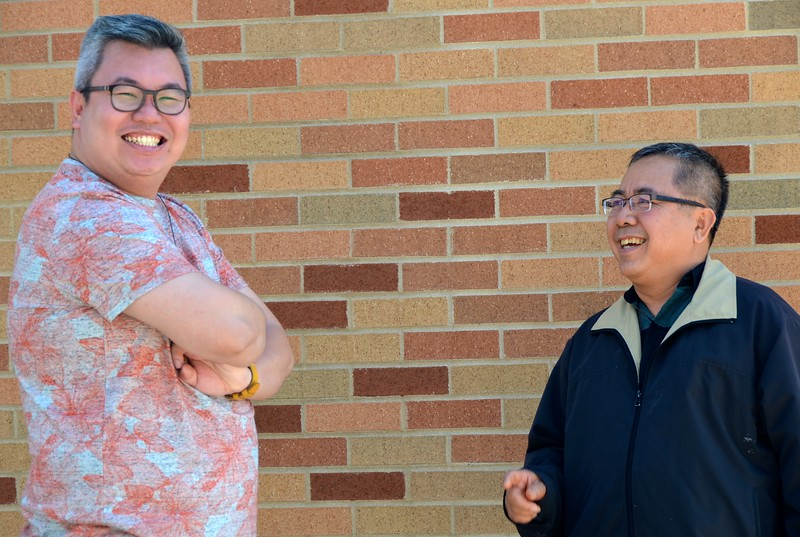 Fr. Joni and Fr. Vincent share a smile