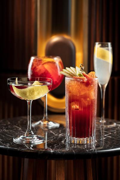 European drink set at Voyages by Alain Ducasse restaurant bar at Morpheus Macau.