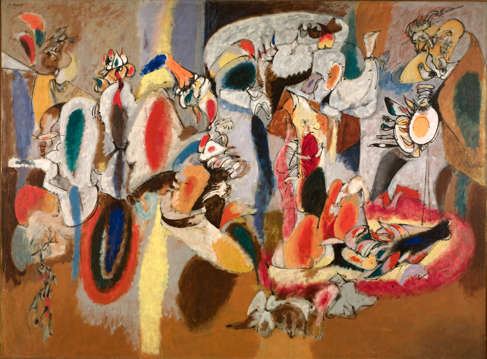. Arshile Gorky, The Liver Is the Cocks Comb, property of the Albright-Knox Art Gallery, Buffalo, NY.
