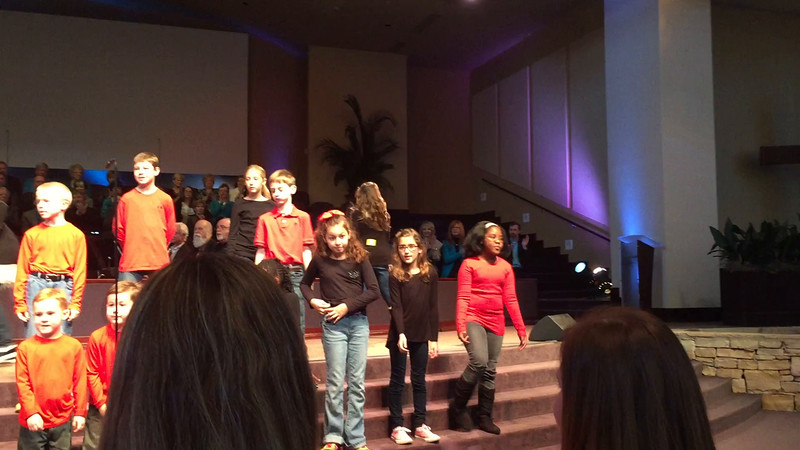 Kid Choir Sings for congregation