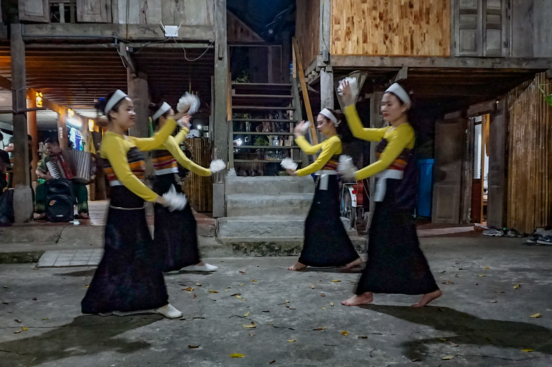 Traditional Thai dances performed  at the Home Stay in Pom Coong