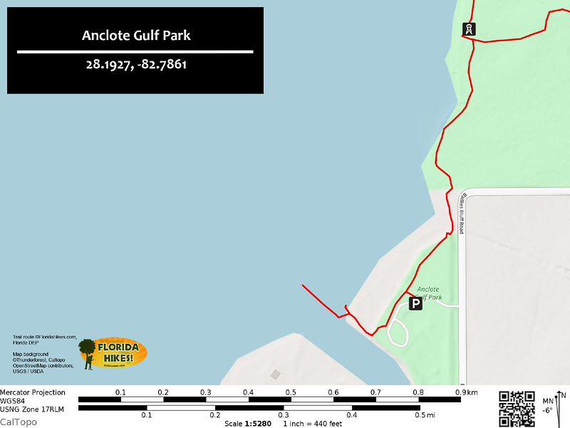 Anclote Gulf Park Trail Map