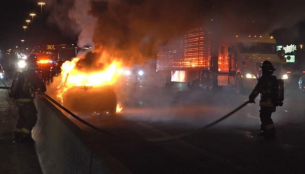 March 18, 2018 - Vehicle Fire - 401 WB near Dufferin St.